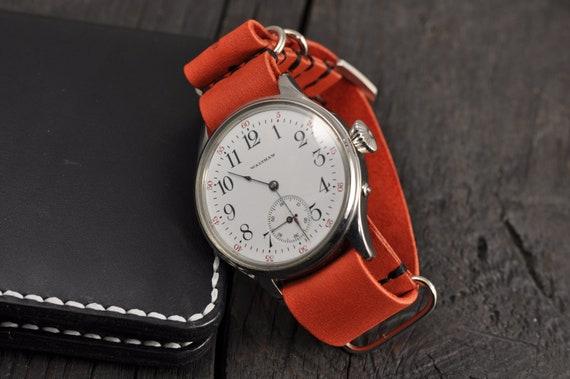 Nato 18mm Leder Lava Herren 26mm UhrenarmbandHandgefertigte 21mm 24mm 20mm Armband 16mm 22mm vn8wmN0