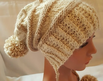 Alpaca Striped Hand Knit Hat