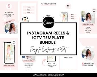 Instagram Reels Templates, Reels Templates, Instagram Reels, Instagram Reel Cover Template, Instagram IGTV Templates