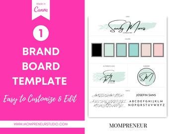 Website Branding Kit, Brand Board, Canva Logo, Canva Branding Template, Website Banner, DIY Logo Template, DIY Web Banner, Branding Kit