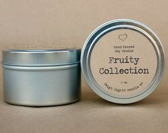 6 oz. Travel Tin | Fruity Collection | Soy Candle | CHOOSE YOUR SCENT
