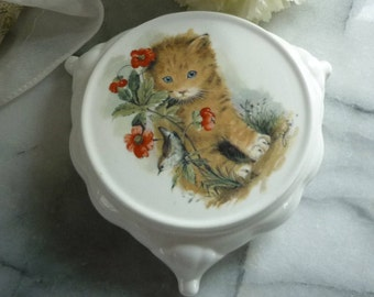 Hand painted Kitten Ceramic Trivet Stand