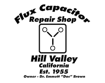 Back to the Future Flux Capacitor Repair Shop SVG
