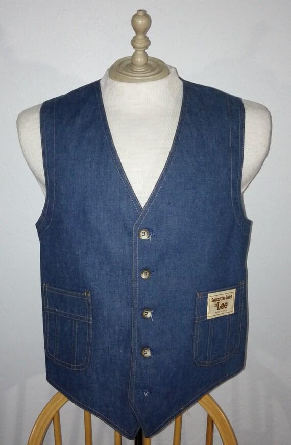 Vintage 1970's Lee Denim Vest