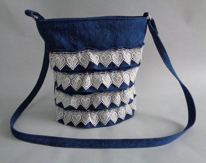 Country Chic Denim & Lace Cross-body Purse