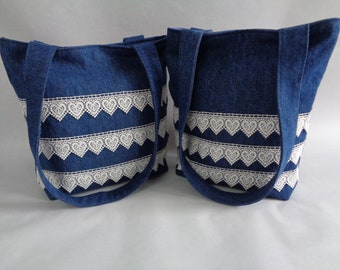 Denim & Lace purse