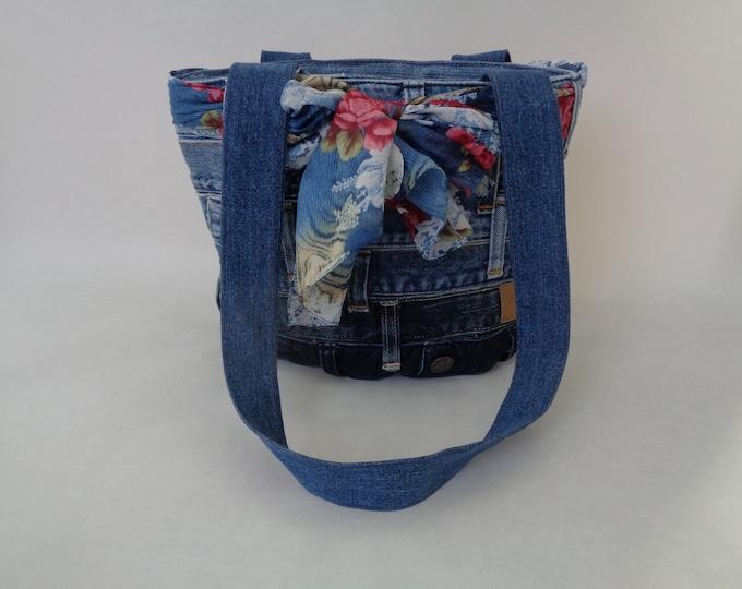 Upcycled Blue Denim Purse