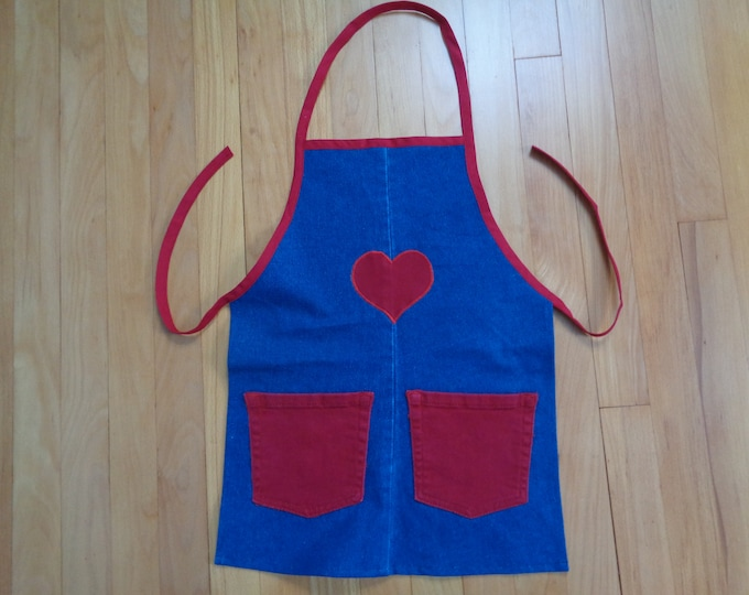 Girl's Denim Apron