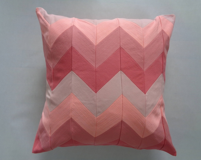 "16"" Peach Denim pillowCover"