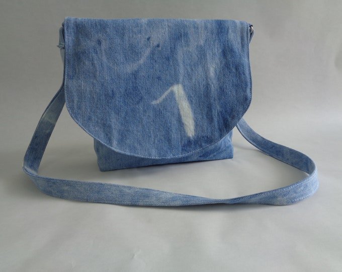 Recycled Denim Cross-body bag