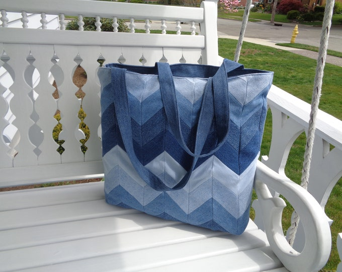 Large Blue Denim Bag