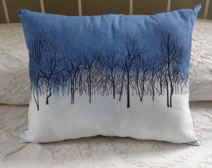 Hand-painted Winter Wonderland Pillow