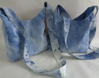 Blue Jeans Bag, Blue Denim Hobo Bag