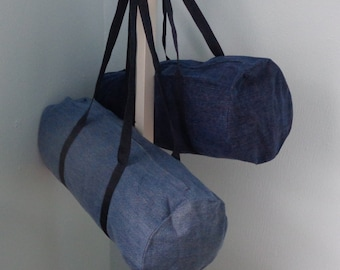 Upcycled Denim Duffle Bag