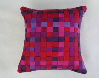 Purples and Reds Decorative Pillow Cover