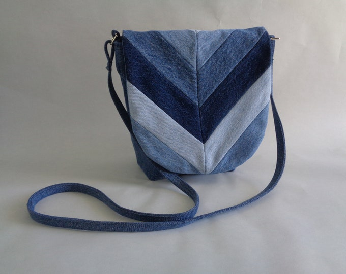 Blue Denim Crossbody Purse