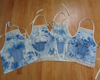 Children's Country Chic denim aprons
