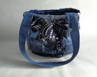 Blue Upcycled Denim Purse