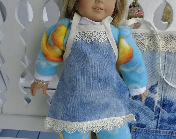 Denim & Lace Doll Apron
