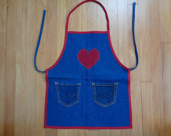 Girl's Denim Art Apron