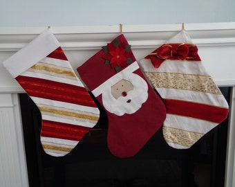 Retro Style Christmas Stocking