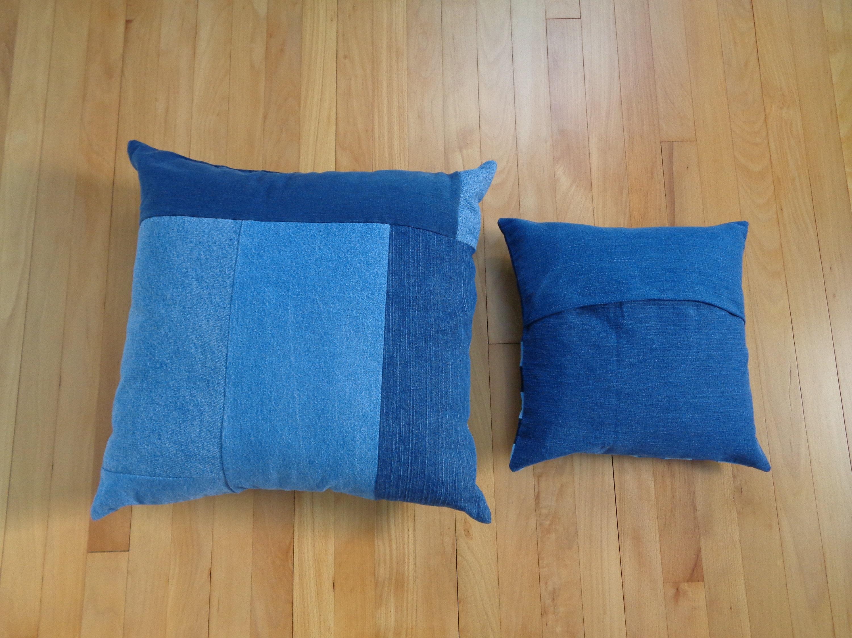Pillow And Throw Set.4 Piece Denim Pillow And Throw Set