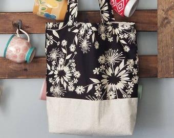 Reversible Floral Tote Bag