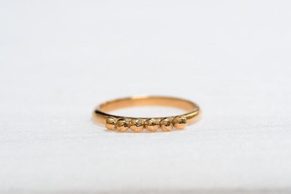 Gold Granule Ring Milgraine Gold Band Beaded Granule Etsy