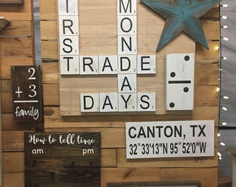 Handmade Large Scrabble Tile. Home Scrabble Tiles. Love Scrabble Tiles. Home Decor. Scrabble. Rustic Home Decor. Wood Sign.