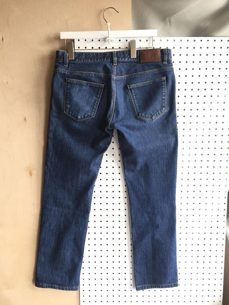 b5a03f5fb13d0 Vintage Prada Authentic Tapered Cropped Denim Jeans