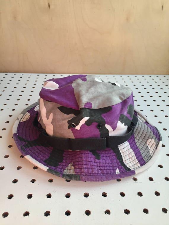 Vintage Purple Unique Camouflage Bucket Hat Military Unisex  29a764e5e9a