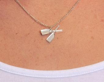 Silver Rowing Necklace
