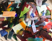 Stained Glass Sheet, 10 lbs stained glass scraps - Brights 7