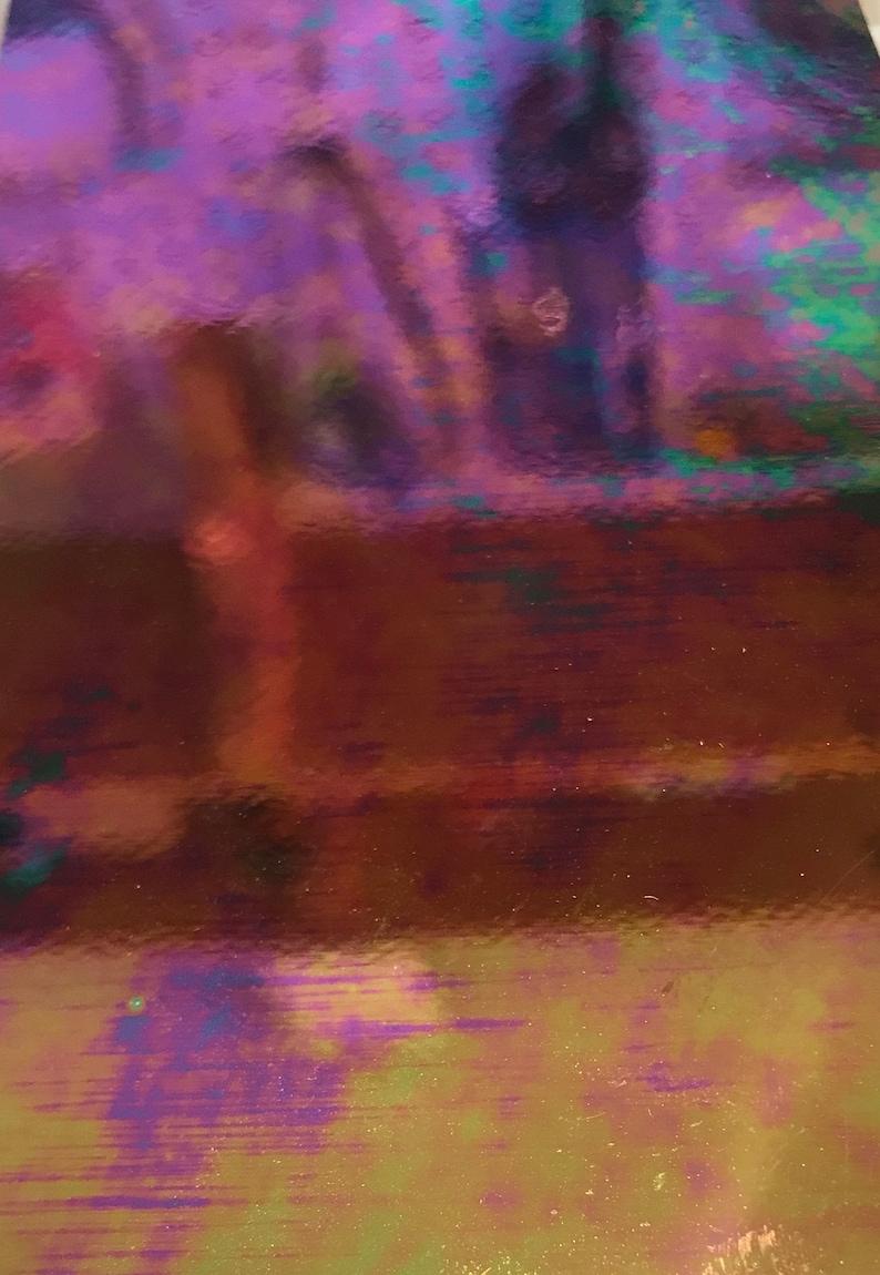 Spectrum 1009 8 x 6  Black  Iridized Stained Glass Sheet irid