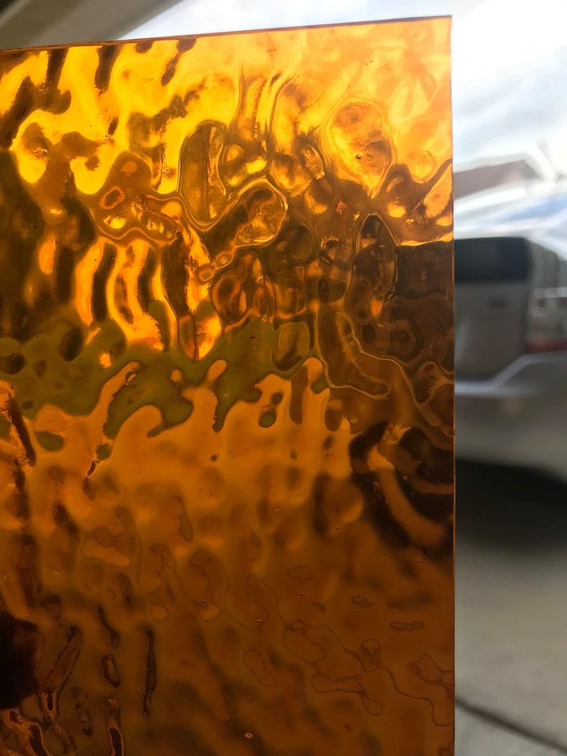 Stained Glass Sheet Wissmach 310 RIP Bright Amber Ripple 8 x 6