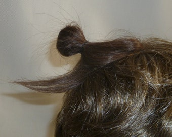 Mini Man Bun, now in Human Hair clip-in add-on manbun