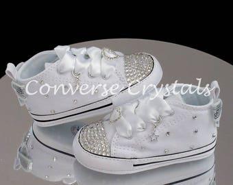 4abe68a23862 Baby Crib Custom Crystal  Bling  Converse Sizes 1-4