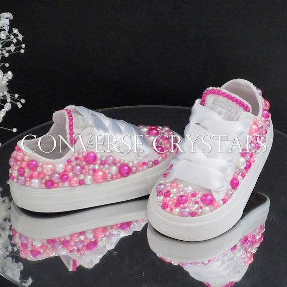 4fd8ca966aa8 Baby Infant Toddler Girls Custom Princess Pink Pearl Bling