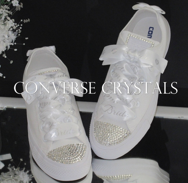 341b629f7dce Bridal   Wedding Custom Crystal Converse With Personalised