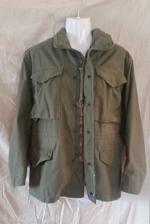 M-65 Cold weather coat/1980 military coat/militar… - image 4