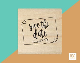 Save The Date-3 - 6cm Rubber Stamp (DODRS0018)