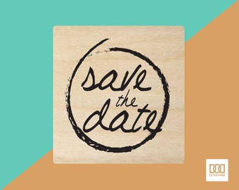 Save The Date-2 - 6cm Rubber Stamp (DODRS0017)