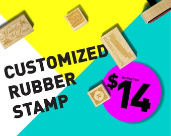 Customized Wood Rubber Stamp (DODRS0000)