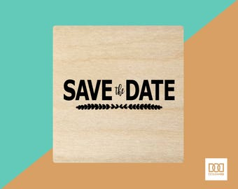 Save The Date-4 - 6cm Rubber Stamp (DODRS0020)