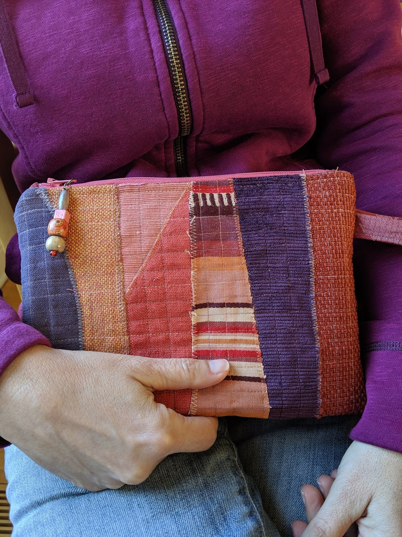 Artsy Zipper Pouch Sewing Tutorial Downloadable PDF Tutorial image 0