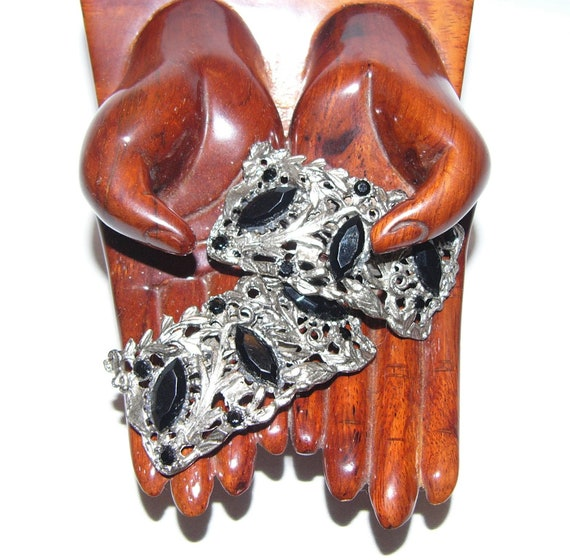Vintage Austrian Crystal Shoe/Sweater Clips