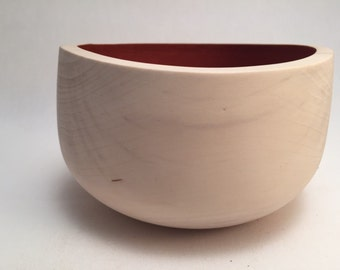 Maple bowl with Milk Paint