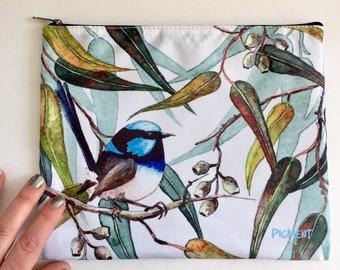 Collectable Australiana Gift Australian Animal and Flower Art Watercolour Fridge Magnets Tasmanian Devil with Blue Gum Magnet