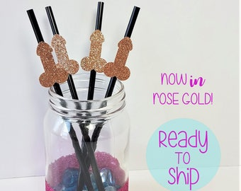 Penis Straws for Bachelorette Party, set of 10 - Bachelorette Party Straws Same Penis Forever Decor Last Fling Penis Decorations Penis Party