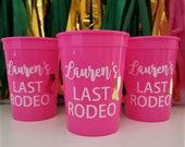 Personalized Bachelorette Party Cups, Last Rodeo Cups, Custom Bachelorette Party Cups Bachelorette Favors, Nashville Bachelorette